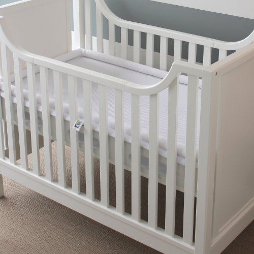 Secure Beginnings Heaven Sent Breathable Crib Mattress French Provincial, White/White - 1