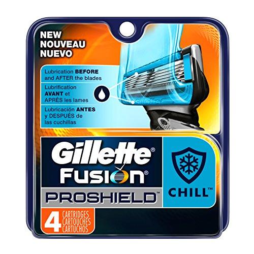 Gillette Fusion Proshield Chill Men's Razor Blade Refills, 4 Count (Fusion Blades 4 compare prices)