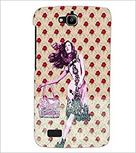 PrintDhaba Cute Girl D-3882 Back Case Cover for HUAWEI HONOR HOLLY (Multi-Coloured)