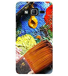 Evaluze PAINT Printed Back Cover for SAMSUNG GALAXY ON7 2015