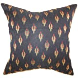 The Pillow Collection Olbia Geometric Pillow, Black discount price 2015