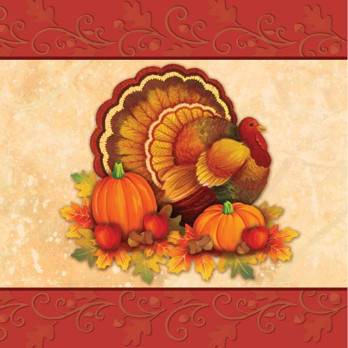 Thanksgiving Scroll Lunch Napkins (16 count) Party Accessory