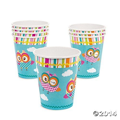 You're A Hoot Owl Cups (8 pc) by Fun Express
