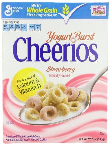 Yogurt Burst Cheerios Strawberry Cereal, 12.2 Ounce  (Pack of 4)