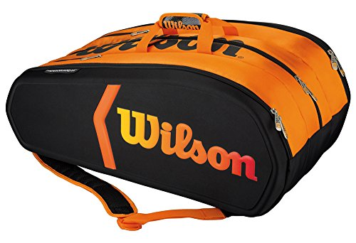 Wilson Sporttasche Burn Collection 15 Pack, Black/Orange, 74 x 41 x 31 cm, 80 Liter, WRZ841515