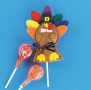 Felt Turkey Sucker Covers (12 Pack) - 1