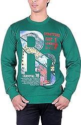 UCC Men's Fleece Regular Fit Sweatshirts (UCC7014GREEN-XXL)
