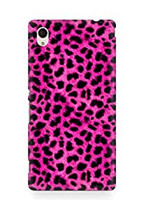 Amez designer printed 3d premium high quality back case cover for Sony Xperia M4 (pink leopard )