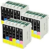 3 Sets = 18 Epson T0807 Compatible Printer Ink Cartridges for Epson Stylus Photo R265 R285 R360 RX560 RX585 RX685 P50 PX650W PX700W PX710W PX800FW PX810W Printers (3x Black, 3x Cyan, 3x Magenta, 3x Yellow, 3x Light Cyan, 3x Light Magenta) - Same Day Post