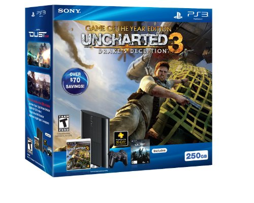 PS3 250GB Uncharted 3: Game of the Year Bundle