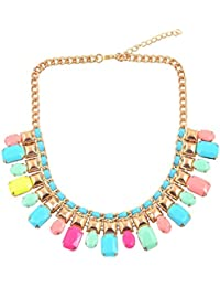"""Diovanni"""" The Trend Of Neon Colors"""" Statement Necklace"""
