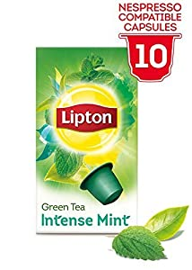 Find LIPTON Green tea Intense Mint (Nespresso Compatible TEA Capsules) - 10 caps / box - 60 caps TOTAL by LIPTON - UNIVER