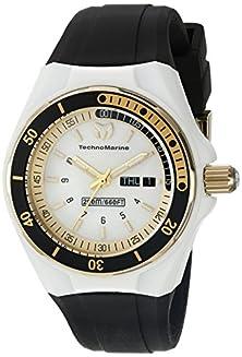 buy Technomarine Women'S Tm-115118 Cruise Sport Analog Display Swiss Quartz Black Watch