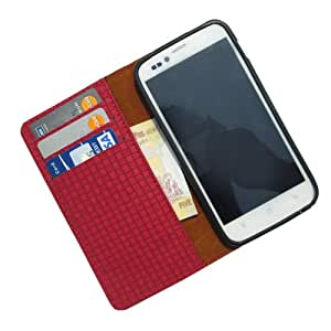 i-KitPit PU Leather Wallet Flip Case For iPhone 4 / 4S (RED)