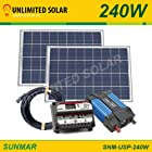 240 Watt Unlimited Solar Sunmar Advanced Off-grid Solar Panel Power Kit