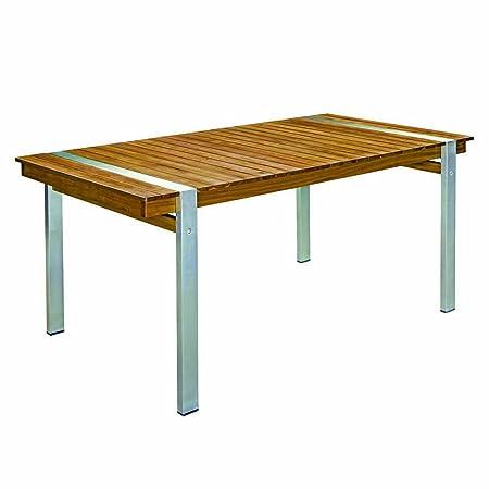 Mesa de comedor para jardín de acero inoxidable marrón Garden - Lola Derek