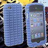 iPhone4/iPhone 4 専用 バンパージャケットカバーケース(モトスキン/ブルー) Moto Skin Case