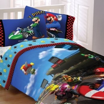 Super Mario Brothers Twin Comforter & Sheet Set