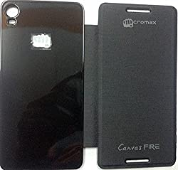 GadgetFreak Flip Cover for Micromax Canvas Fire a104- Black