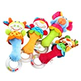 New Baby Developmental Toy New Lovely Soft Hand bells Animal Model Long Handbell HE /1 PC of the Rundom