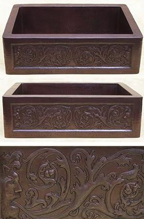 FHA33IMS inch Hammermarc Copper Kitchen Sink Designer Front-Imas