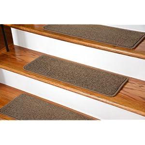 """Dean Serged DIY Carpet Stair Treads (13) - Rich Earth Plush 27"""" X 9"""