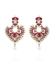I Jewels Tradtional Gold Plated Elegantly Handcrafted Pair Of Fashion Earrings For Women. - B00N7IOR9W
