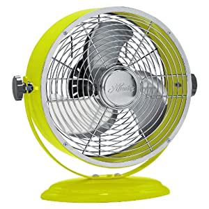 Hunter 7 Inch Personal Fan (Nickel/Lime Green)