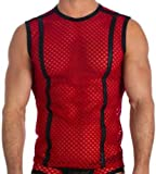 Mens Sexy Red Afterhour Muscle Shirt Fashion Tank Top by Gregg Homme Size X-Large
