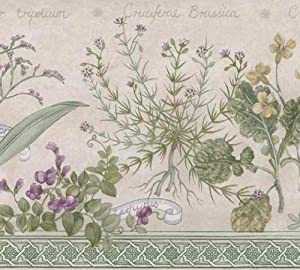 herbs wallpaper border - photo #7