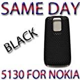 BRAND HYBRID PLASTIC BACK COVER PROTECTOR NOKIA 5130 Black