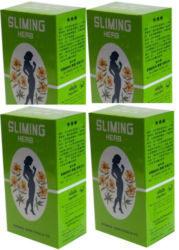 GERMAN HERB SLIMING TEA diet fatburner Weight Loss Diet Tea 4 Boxes 200 Tea Bags