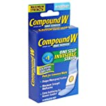 Compound W Wart Remover, Maximum Strength, One Step Invisible Strips, 14 ct.