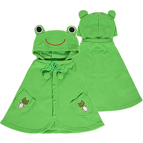 Adorable Frog Baby Clothes Cloak Baby Kids Warm Hood Cape Coat 66cm