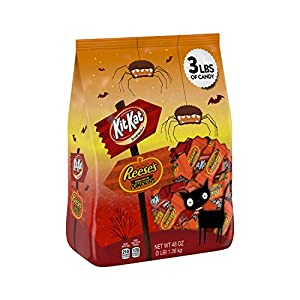 HERSHEY'S Halloween Snack Size Assortment (3-Pound Bag)