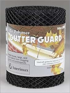 "Amerimax Gutter Guard 6 "" X 20 ' Plastic Blk"
