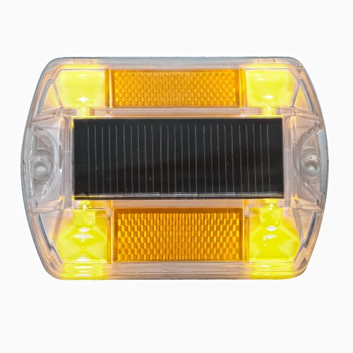 Yellow Polycarbonate Solar Road Stud Path Deck Dock Led Light (2 Pack)