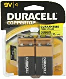 Duracell Coppertop 9-V Alkaline Batteries 4 Count