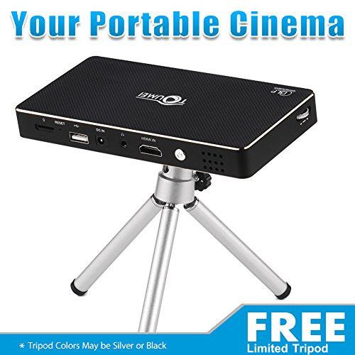 Home-Theater-Projector-Pro-DLP-Smart-Mini-Pico-Portable-Video-Projector-HDMI-Bluetooth-WIFI-Wireless-Connectivity-Support-1080p-with-Premium-Osram-RGB-LED-Free-Tripod