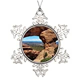 LearnML Personalised Christmas Tree Decoration Arches National Park Blank One size