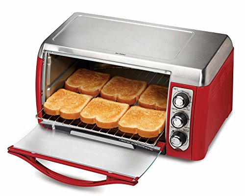 Hamilton Beach 31335 Ensemble 6-Slice Toaster Oven, Red (Compact Toaster Oven Broiler compare prices)