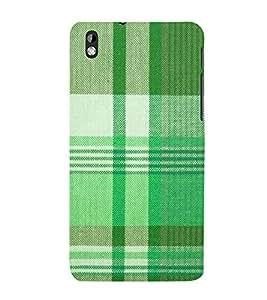 Green Checks Wallpaper Cute Fashion 3D Hard Polycarbonate Designer Back Case Cover for HTC Desire 816 :: HTC Desire 816 Dual Sim :: HTC Desire 816G Dual Sim