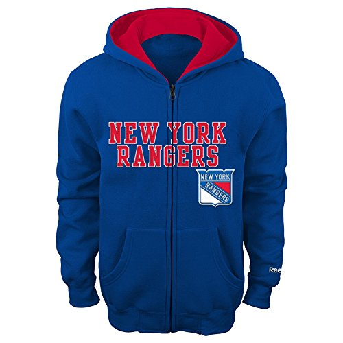NHL New York Rangers 8-20 Youth Sportsman Full Zip Fleece Hoodie, New York Rangers, Large (Kids New York Rangers Sweatshirts compare prices)