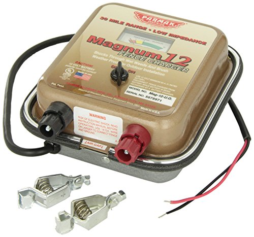 Parmak Mag12-Uo 12-Volt Magnum Low Impedance Battery Operated 30-Mile Range Electric Fence Charger