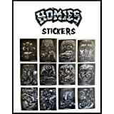 Homies Foil Black and White Stickers Set of 12: 2000 Set from Gonzales Graphics