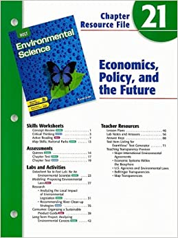 Holt Environmental Science Chapter 21 Resource File ...