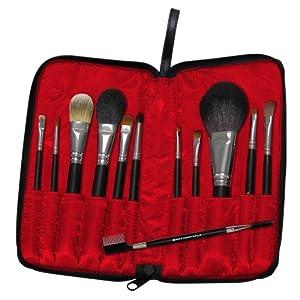 Royal & Langnickel Silk Pro 12-Piece Professional 13-Piece Travel Cosmetic Brush Set