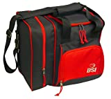 BSI Deluxe Single Ball Tote Bag (Black/Red)