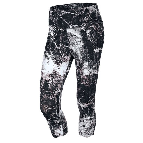 Nike Women's Dri-Fit Legendary Engineered Training Tight Capris-Black Marble-Medium