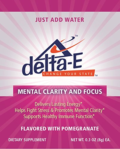 Delta-E Mental Clarity & Focus! Energy Drink - (3) Packets Of Delta E